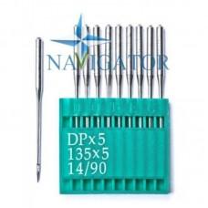 Промышленные швейные иглы Dotec DPx5, 135x5, 14/90 для прямострочных машин, средние и тяжелые ткани