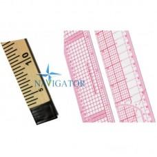 Прямая лекальная линейка для раскроя и разметки ткани, 55 cм + Линейка портновская 1 м