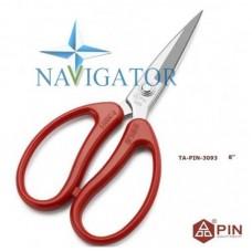 Профессиональные кованые портновские ножницы PIN3093,  с прорезиненными ручками